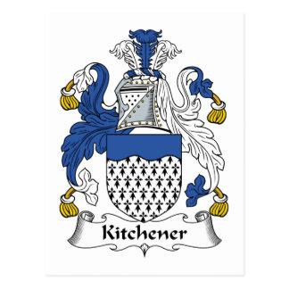 Escudo de la familia de Kitchener Tarjetas Postales