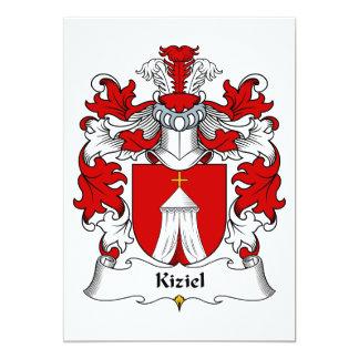 """Escudo de la familia de Kiziel Invitación 5"""" X 7"""""""