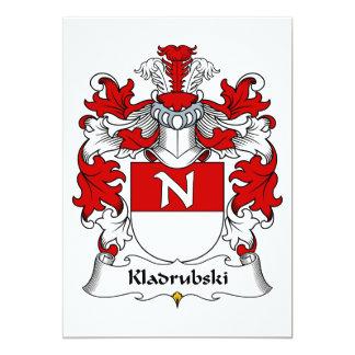 """Escudo de la familia de Kladrubski Invitación 5"""" X 7"""""""