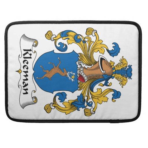 Escudo de la familia de Kleeman Funda Macbook Pro