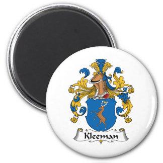 Escudo de la familia de Kleeman Imán Redondo 5 Cm