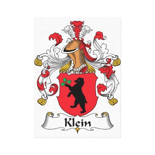 Escudo de la familia de Klein Impresion De Lienzo