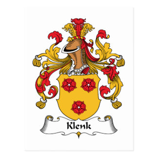 Escudo de la familia de Klenk Postales
