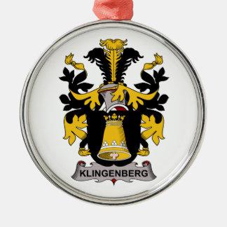 Escudo de la familia de Klingenberg Adorno Navideño Redondo De Metal
