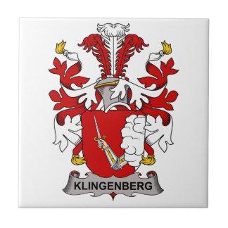 Escudo de la familia de Klingenberg Azulejo Cuadrado Pequeño