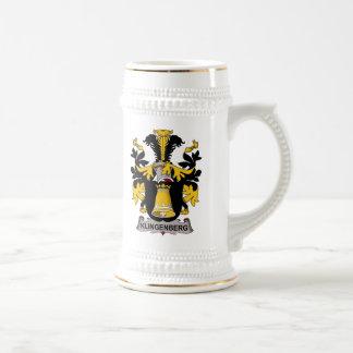 Escudo de la familia de Klingenberg Jarra De Cerveza
