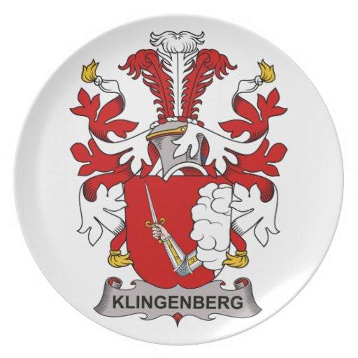 Escudo de la familia de Klingenberg Plato