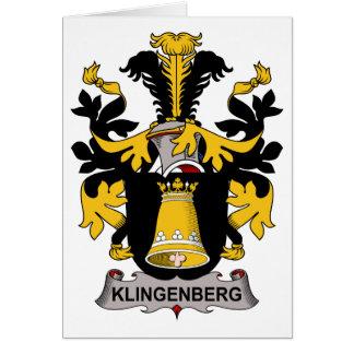 Escudo de la familia de Klingenberg Tarjeta De Felicitación