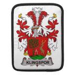 Escudo de la familia de Klingspor Fundas Para iPads