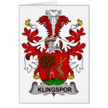 Escudo de la familia de Klingspor Tarjetón