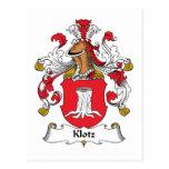 Escudo de la familia de Klotz Postal