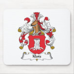 Escudo de la familia de Klotz Tapetes De Ratón