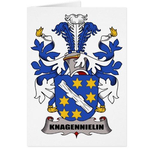 Escudo de la familia de Knagennielin Tarjetas