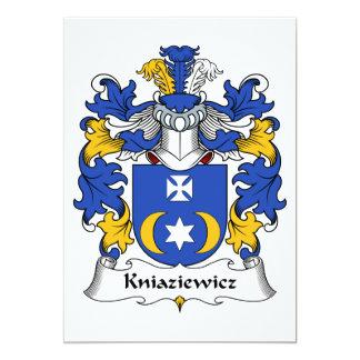 Escudo de la familia de Kniaziewicz Invitación