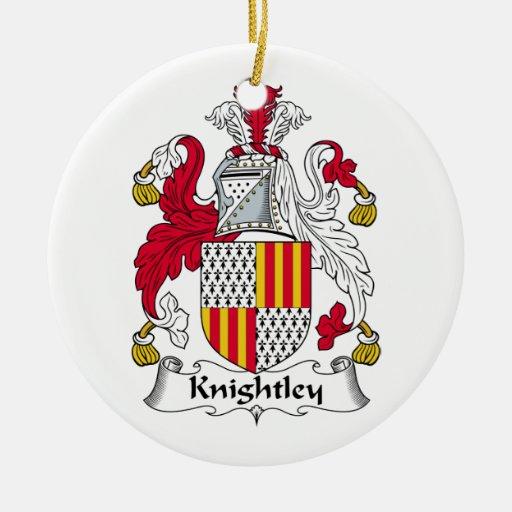 Escudo de la familia de Knightley Adorno De Navidad