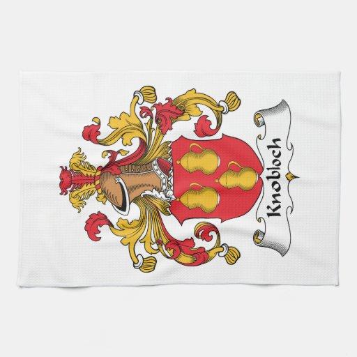 Escudo de la familia de Knobloch Toallas De Cocina