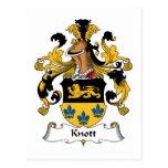Escudo de la familia de Knott Postales