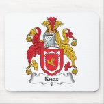 Escudo de la familia de Knox Alfombrilla De Raton