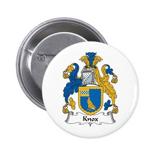 Escudo de la familia de Knox Pins