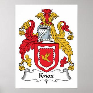 Escudo de la familia de Knox Póster