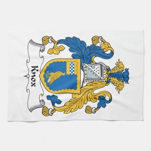 Escudo de la familia de Knox Toalla De Mano