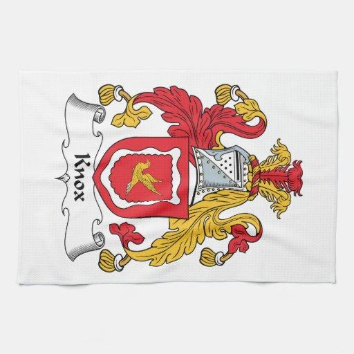 Escudo de la familia de Knox Toallas De Cocina