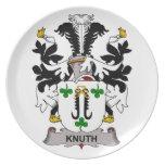 Escudo de la familia de Knuth Plato De Comida