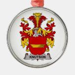 Escudo de la familia de Knutson Adorno De Navidad