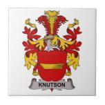 Escudo de la familia de Knutson Azulejo