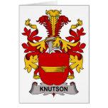 Escudo de la familia de Knutson Felicitación