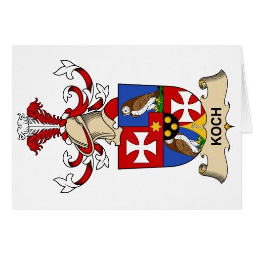 Escudo de la familia de Koch Tarjetón