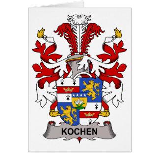 Escudo de la familia de Kochen Tarjeta De Felicitación