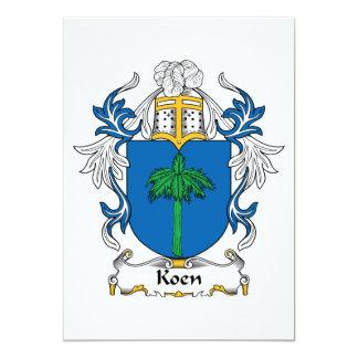 """Escudo de la familia de Koen Invitación 5"""" X 7"""""""
