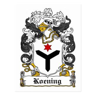 Escudo de la familia de Koening Tarjeta Postal