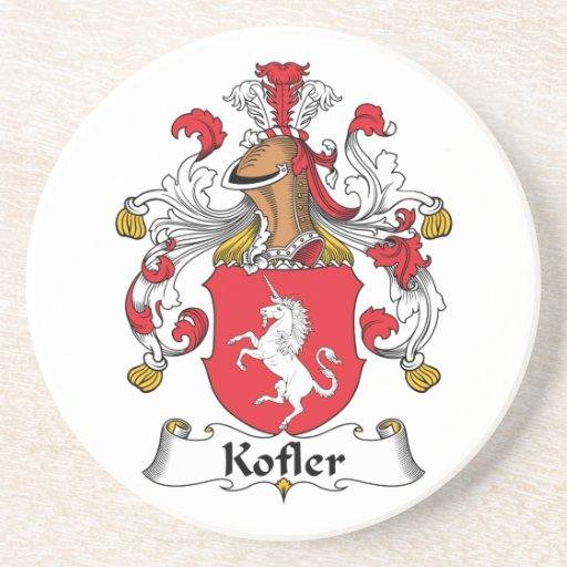 Escudo de la familia de Kofler Posavaso Para Bebida