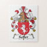 Escudo de la familia de Kofler Rompecabeza Con Fotos