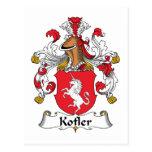 Escudo de la familia de Kofler Tarjetas Postales