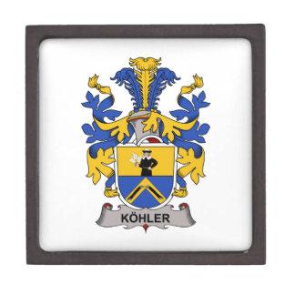 Escudo de la familia de Kohler Caja De Regalo De Calidad