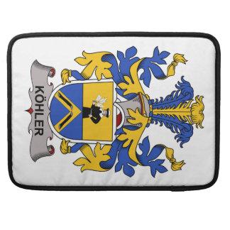 Escudo de la familia de Kohler Fundas Para Macbooks