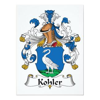 """Escudo de la familia de Kohler Invitación 6.5"""" X 8.75"""""""