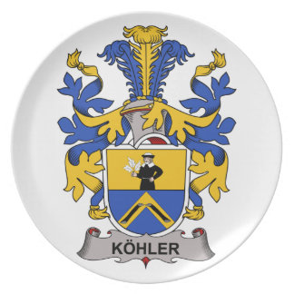 Escudo de la familia de Kohler Plato De Cena