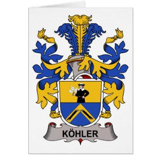 Escudo de la familia de Kohler Tarjetas