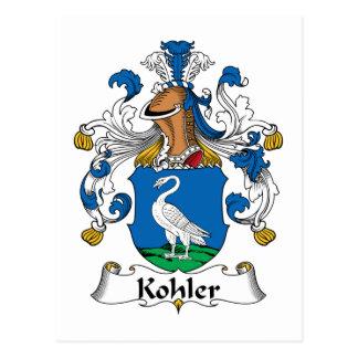 Escudo de la familia de Kohler Tarjetas Postales