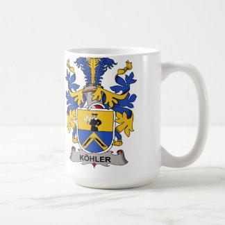 Escudo de la familia de Kohler Taza De Café