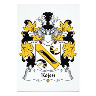 """Escudo de la familia de Kojen Invitación 5"""" X 7"""""""