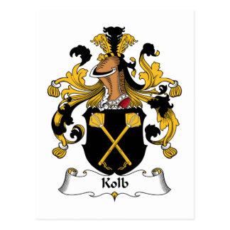 Escudo de la familia de Kolb Postales