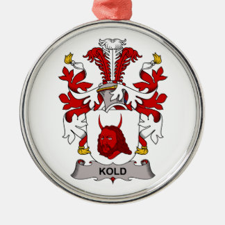 Escudo de la familia de Kold Adorno Navideño Redondo De Metal
