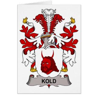 Escudo de la familia de Kold Tarjeta De Felicitación