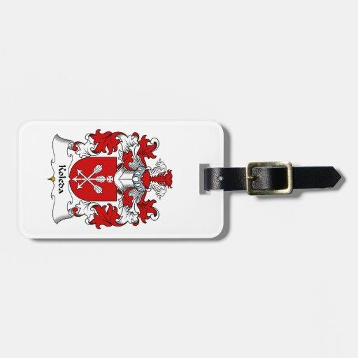 Escudo de la familia de Koleda Etiquetas De Equipaje