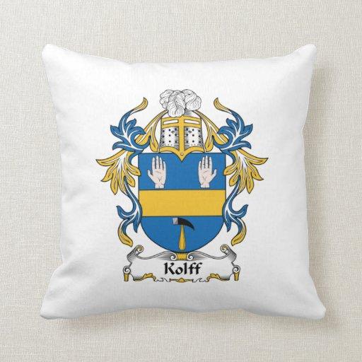 Escudo de la familia de Kolff Cojin